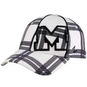 Zephyr Michigan Wolverines White Navy Blue Tilt Z Fit Hat