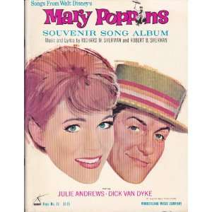 com Mary Poppins Souvenir Song Album   songs from Walt Disneys Mary