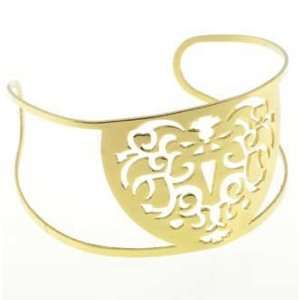 High Polished Gold Plated Stainless Steel Shield Design