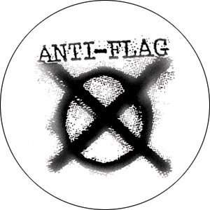 Anti Flag Logo Button B 0974: Toys & Games