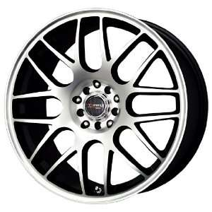 Drag D34 Flat Black Wheel with Machined Face (17x7.5