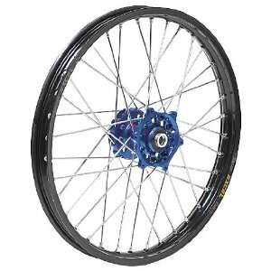 QTM/Brembo Offroad/ATV Complete Front Wheel Assembly   Dark Blue/Black