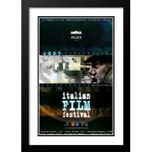 Italian Film Festival 20x26 Framed and Double Matted Movie