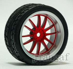 4PCS 110 ON ROAD RC CAR Wheel Rim & Tyre,Tire # L9KY6