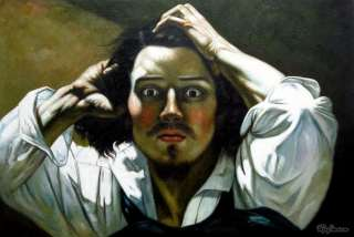 Gustave Courbet The Desperate Man Oil Painting repro