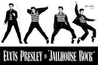 ELVIS PRESLEY ~ JAILHOUSE ROCK MONTAGE POSTER Music