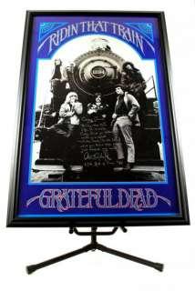 Grateful Dead Autographed Train Poster w/ Lyrics JSA Product Image