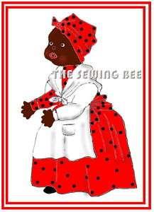 404 Black American Mammy Rag Doll Pattern vintage