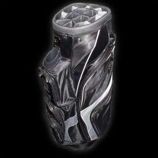 RJ Sports C.E.O. Cart Bag 14 Way Full Length Dividers Black/Black