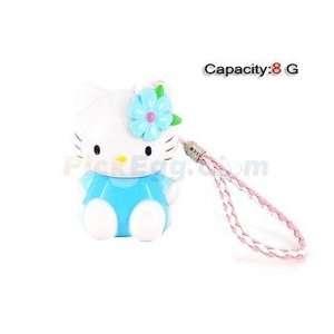 8GB 3D Kitty USB Flash Drives U Disk (Blue) Electronics