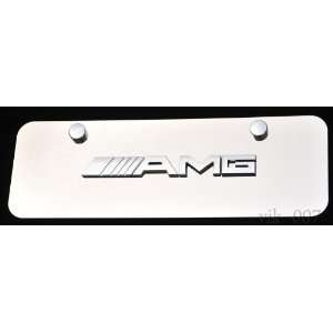 Mercedes Benz AMG 3D logo on Steel license plate, NEW