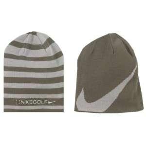 NIKE golf reversible winter hat mens new, brown/grey