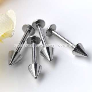 10pc 16G Silvery Stainless Steel Arrow Taper Lip Labret Studs Ring