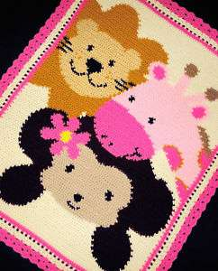 Crochet Patterns  ZOO SAFARI FRIENDS Baby Girl Pattern