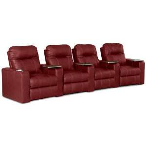 Palace Power Reclining Armless Loveseat in Cody Lipstick