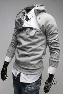 2011 NEW Mens Slim Fit Style Collection Shirt Hoodie Sweater 4 Color