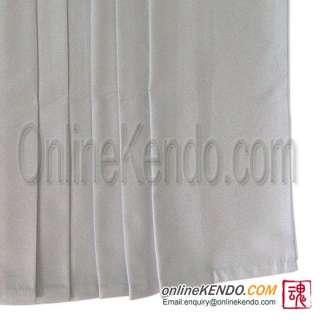 UH 061) High Quality Tetron White Kendo Hakama