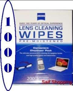 Zeiss Pre Moistened Cleaning Cloth Wipes 4 Eyeglasses TV Camera Lens