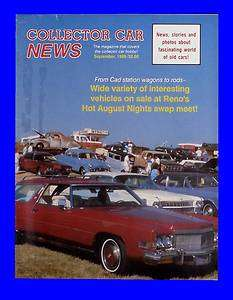 COLLECTOR CAR NEWS SEP 1989,HOT AUGUST NIGHT,PHAETON,SEPTEMBER,HOT ROD