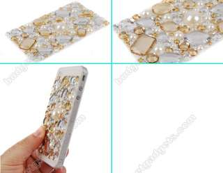 Rhinestone Bling Jewelry Sticker for iPhone 4th 4S