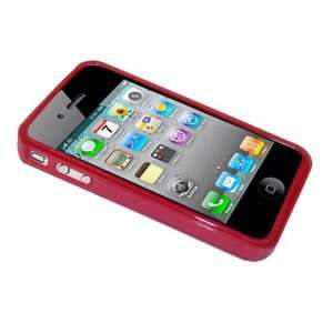 Modern Tech Red Gel Case/ Skin for Apple iPhone 4 Cell