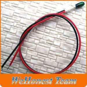 Grain of Wheat = 500 pcs 3mm Green 12V 80mA wired Bulbs