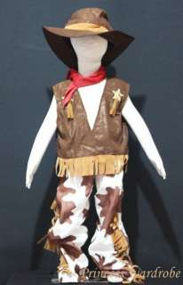 Halloween Child Boys Western Cowboy Party Costume 6 12Y