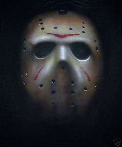 JASON VOORHEES FRIDAY THE 13TH AIRBRUSHED MASK T SHIRT
