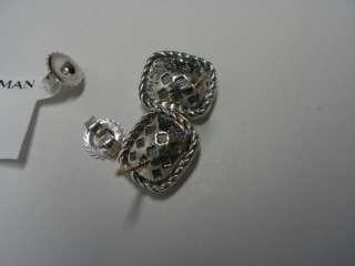 Brand New David Yurman Blue Topaz Noblesse Earrings Sterling Silver
