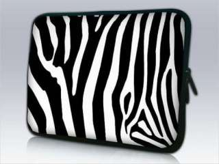 17 17.3 Zebra Print Netbook Laptop Sleeve Bag Pouch