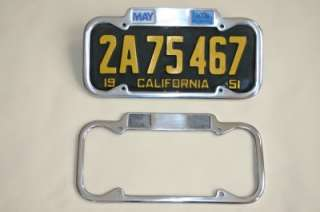1940 1955 YOM CALIFORNIA Month Year License Plate Frame