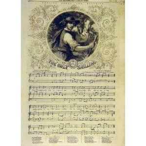 English Songs Melodies Shilling Music Score Print 1858