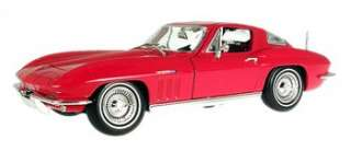 MAISTO 31640 118 RED 1965 CHEVROLET CORVETTE COOUPE DIECAST MODEL CAR