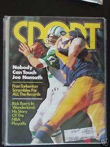 1975 Sport Magazine New York Jets Joe Namath