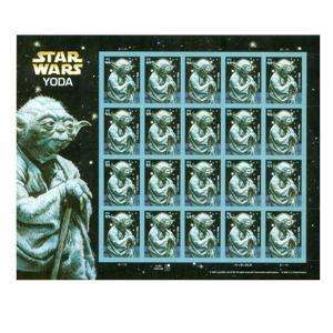 4205 USA YODA STAR WARS MINT NH FULL STAMP PANE SHEET 2007 Great Gift