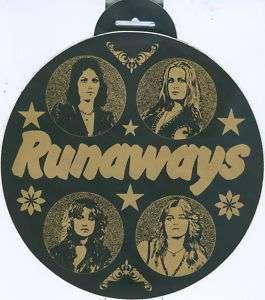 RUNAWAYS   Big Car Sticker (1977) JOAN JETT / LITA FORD