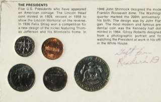 THE AMERICAN SERIES THE PRESIDENTS 5 COIN SET x1