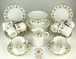 34 Pc Antique T.C.W. Royal Albert Crown China Tea Set
