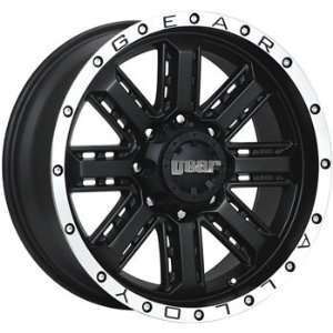 Gear Alloy Nitro 18x9 Black Wheel / Rim 8x6.5 with a 0mm Offset and a