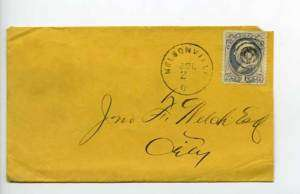 Nelsonville OH Fancy Cancel Bank Note Stamp Cover