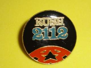 RUSH 2112 Enamel Metal Vtg Tour Pin Badge Pinback Geddy Lee Rock Logo