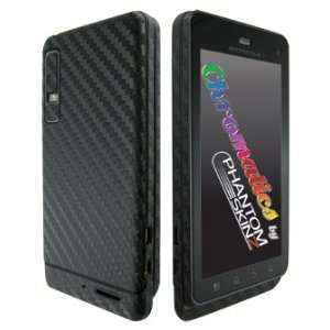 Motorola Droid 3 Black Carbon Fiber Full Body Protection