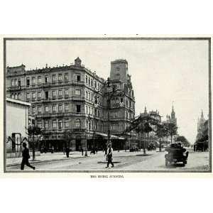 1917 Print Street Scene Hotel Avenida Fashion Rio De