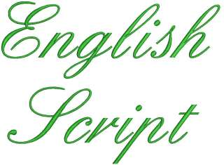 You are bidding on Quality Fonts. The English Script is ourlatest