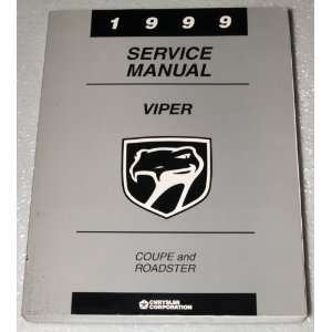 1999 Dodge Viper RT/10 and GTS Service Manual (Coupe and