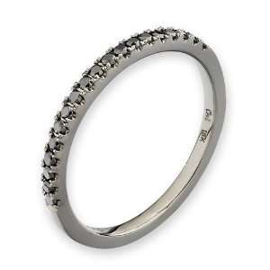 18K White Gold Oxidized Pave Setting Round Black Diamond