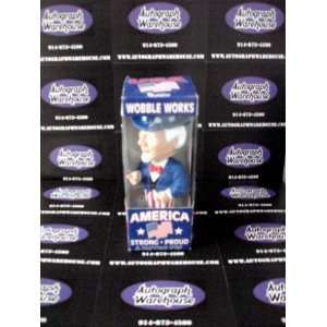 Uncle Sam Bobble Head Bosley Bobber   Figure is fine   box