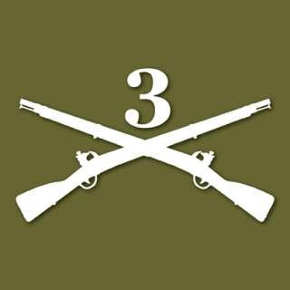 3rd US Infantry The Old Guard Army Vinyl Decal Sticker