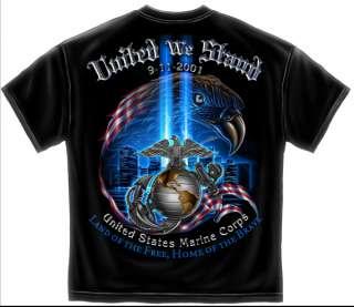 USMC 9 11 T Shirt 911 Marine Corps Military army logo usa flag eagle