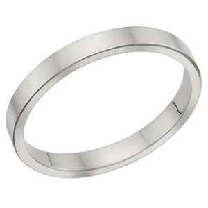 Millimeters Flat White Gold Wedding Band Ring on Sale 18Kt Gold